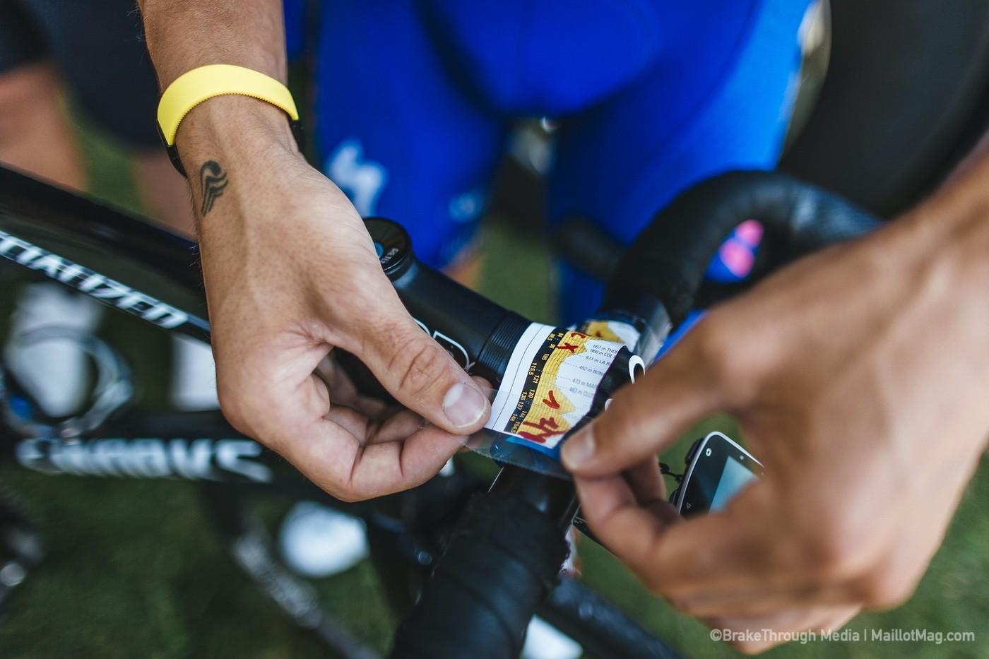 Perfil de etapa en la potencia de una bici de un ciclista profesional