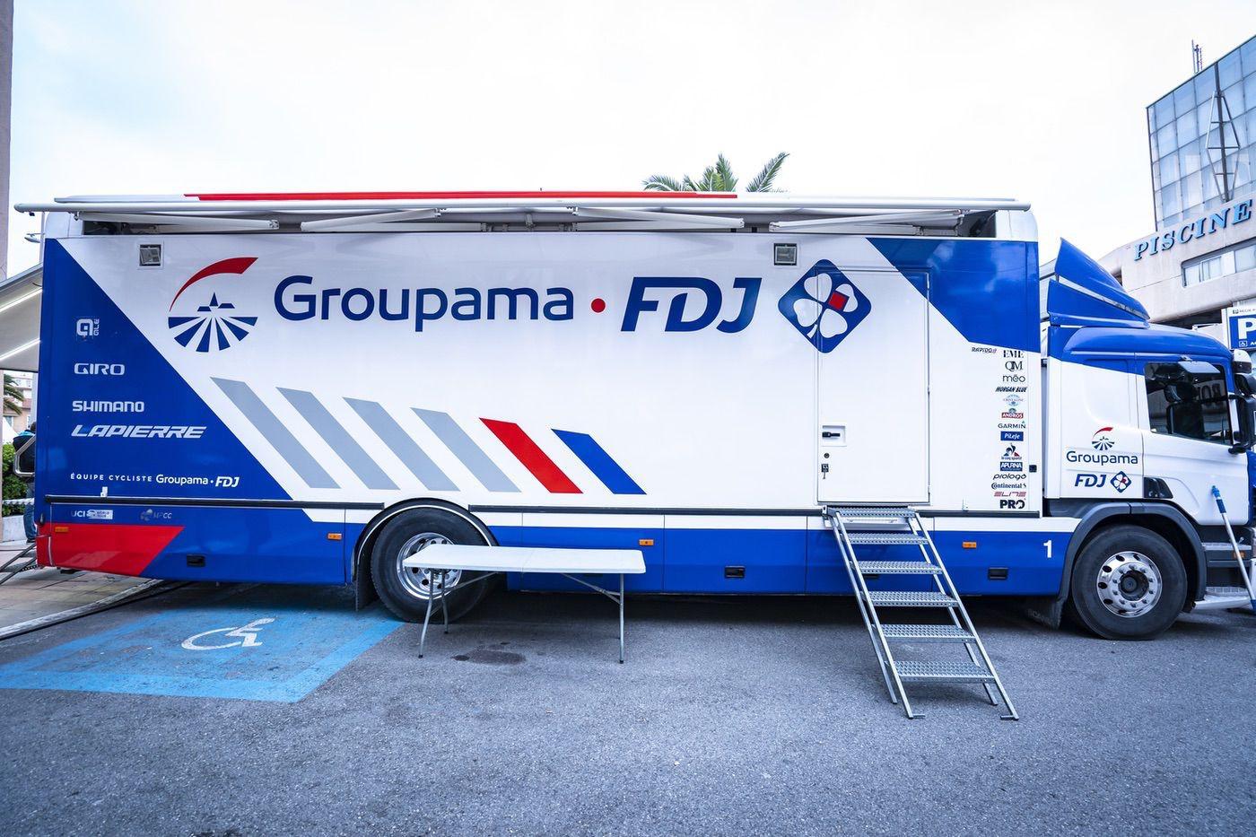 Camión taller de Groupama-FDJ