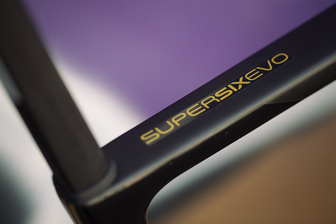 Detalle del cuadro de la Cannondale SuperSix Evo 2020