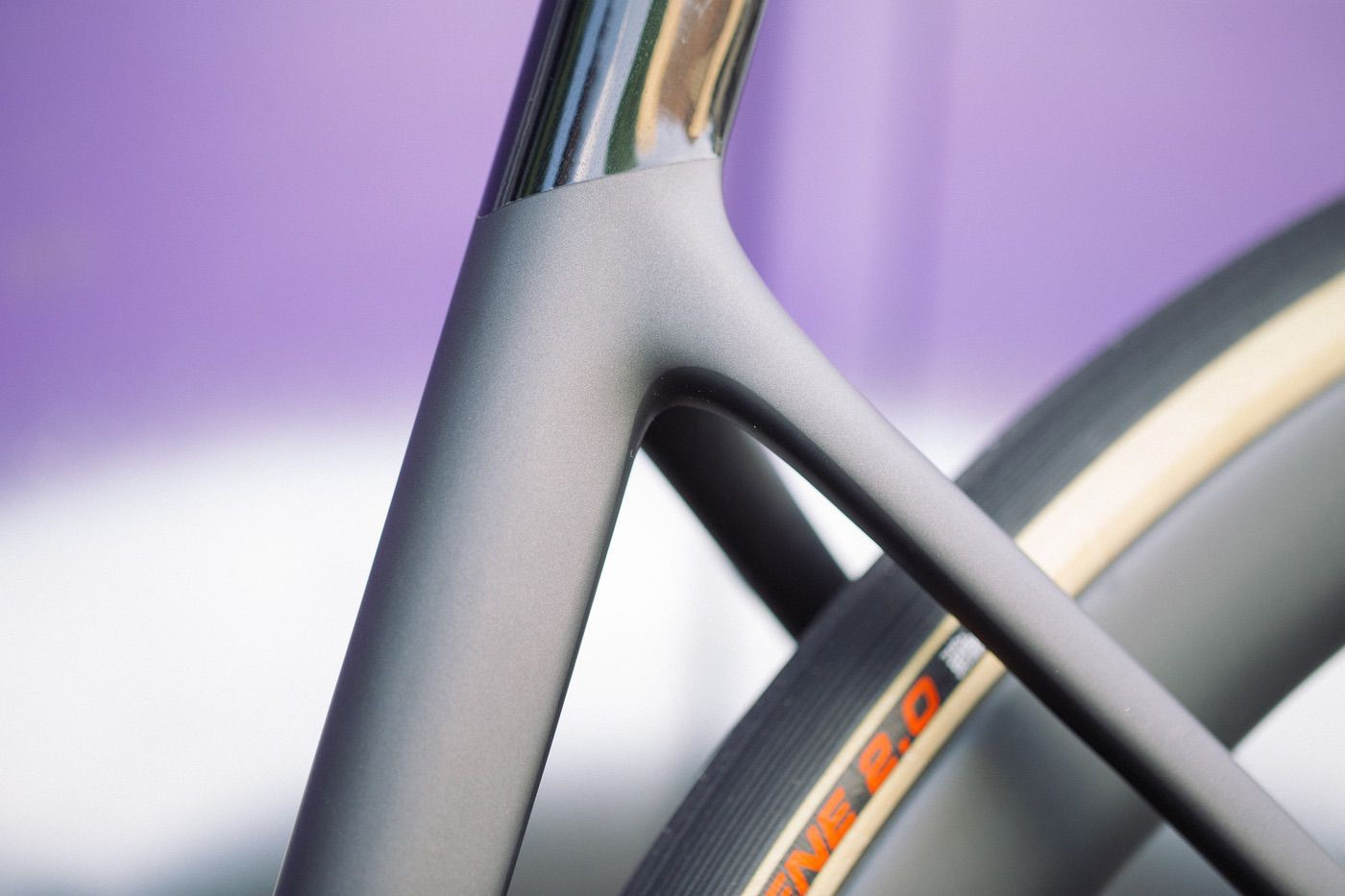 Detalle del triángulo trasero de la Cannondale SuperSix Evo 2020