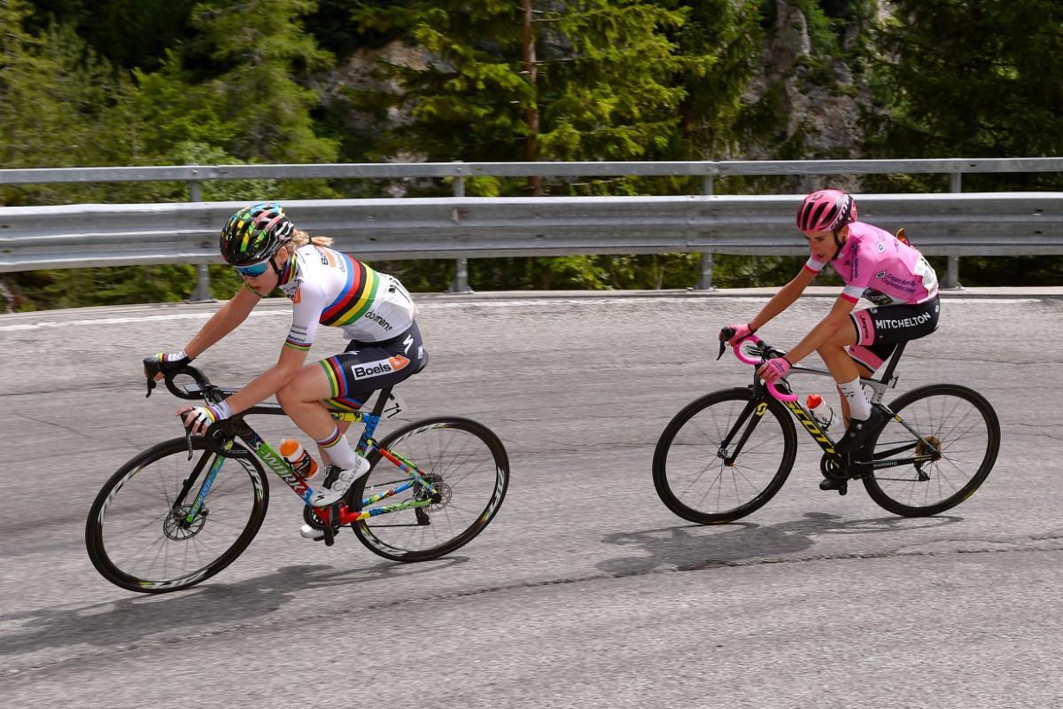 Anna van der Breggen y Annemiek van Vleuten en la 9ª etapa del Giro Rosa