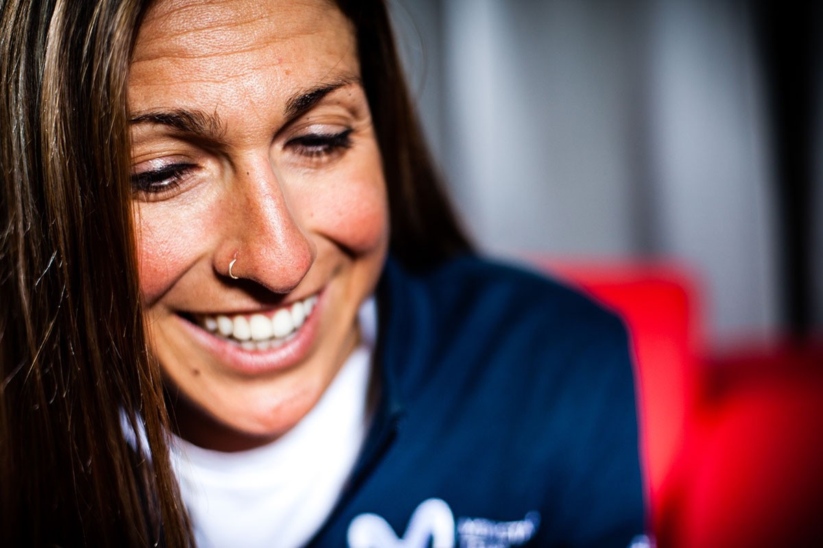Mavi García (corredora del Movistar Team femenino)