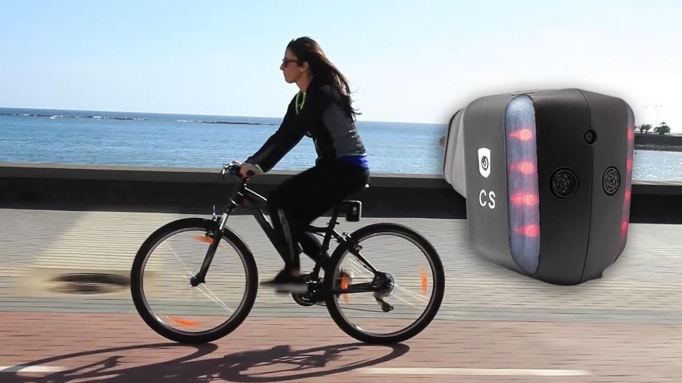 CycloShield, dispositivo de seguridad para ciclistas