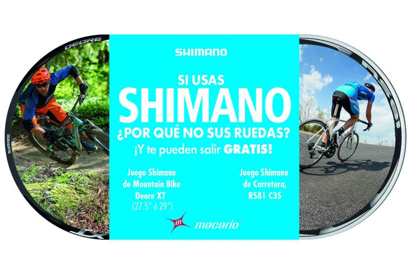 Promo del Alquiler de ruedas Shimano por Macario Llorente
