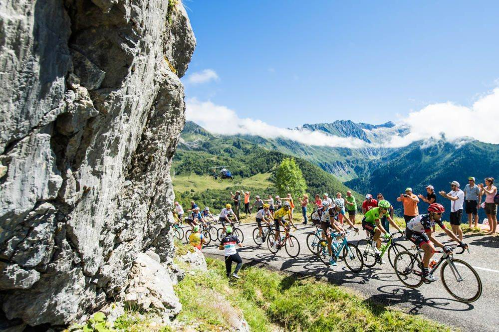 Corredores en el Tour de Francia