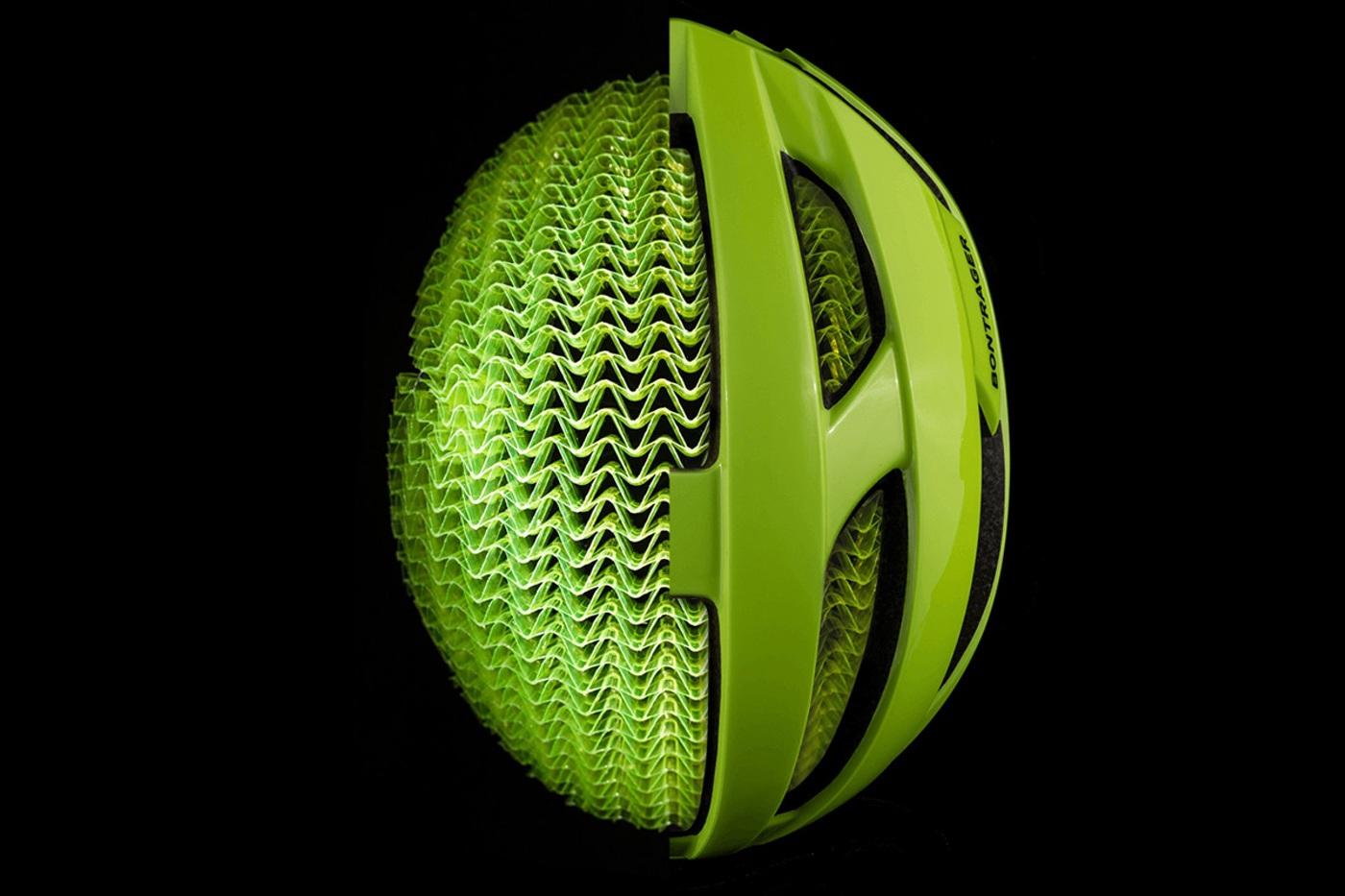 Estructura de protección en los cascos Bontrager WaveCel