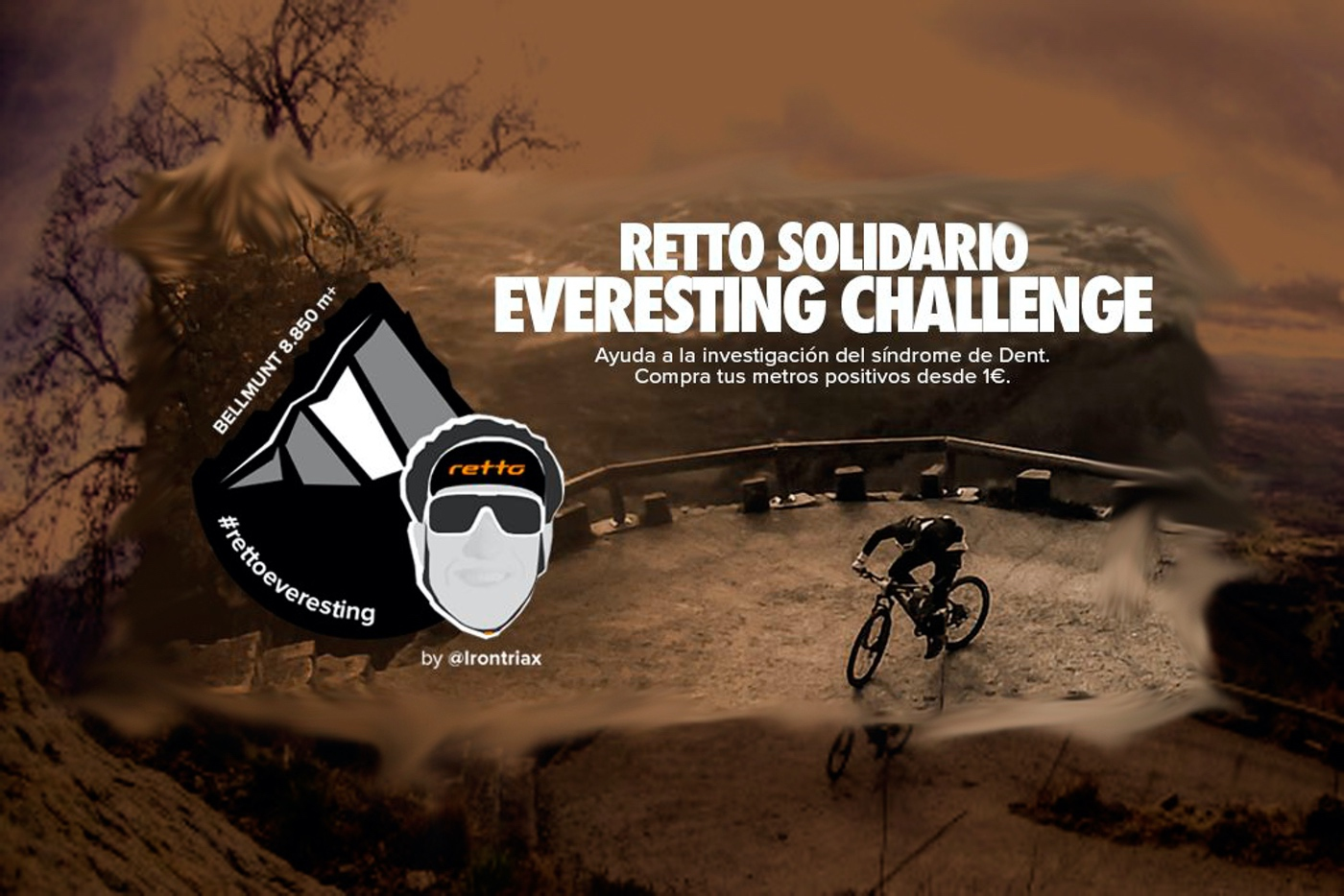 Everesting Challenge solidario por el Síndrome de Dent