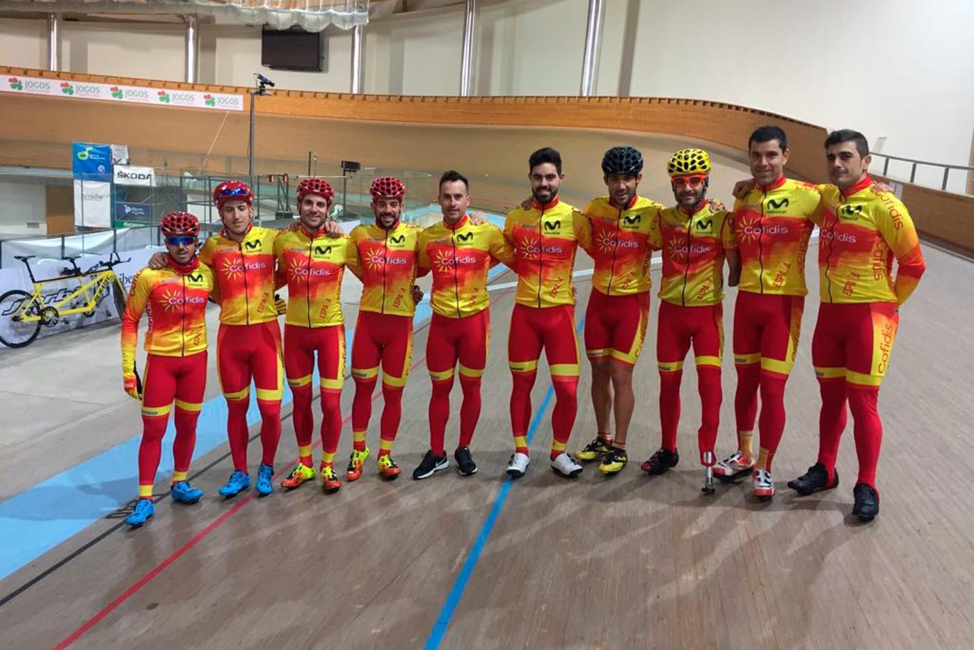 Seleccionados para el Mundial de Ciclismo Adaptado en Pista