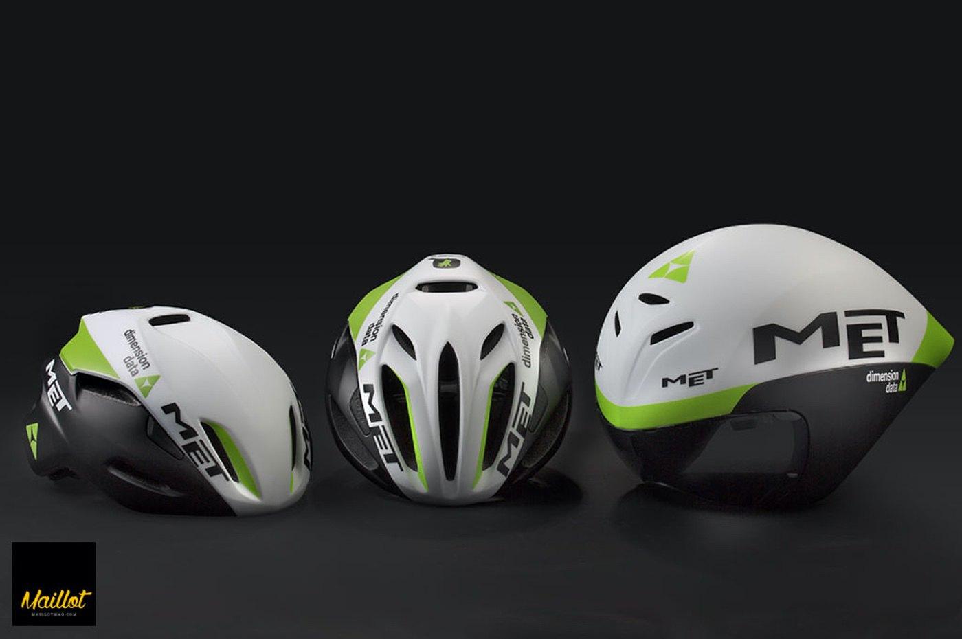 Los cascos MET del Equipo Dimension Data