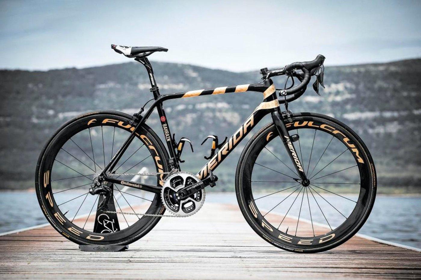 Nibali y su Merida Scultura para la edición 100 del Giro de Italia