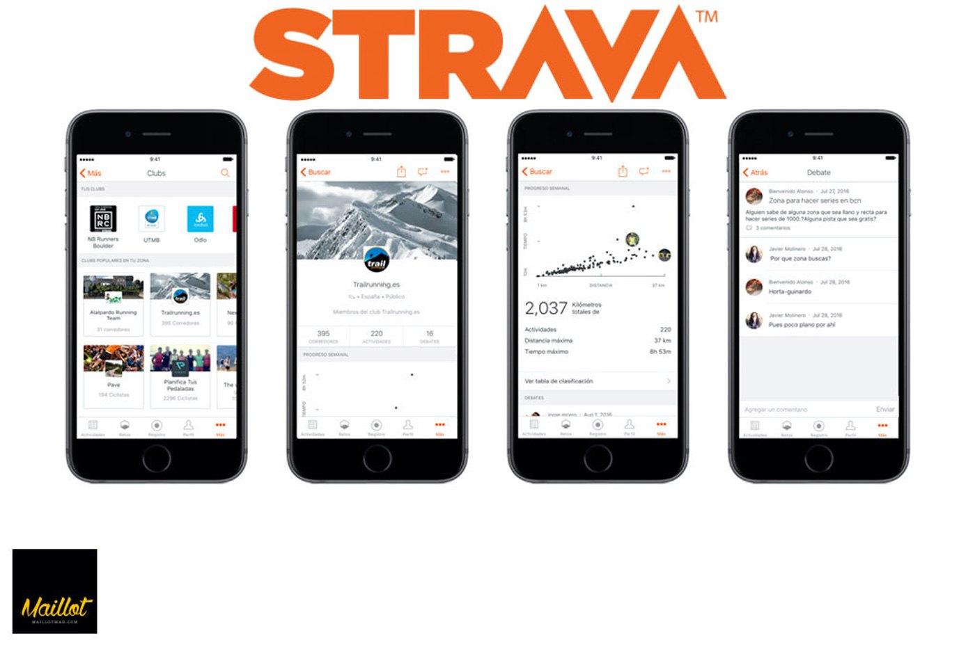 STRAVA Clubes ya está disponible para móviles