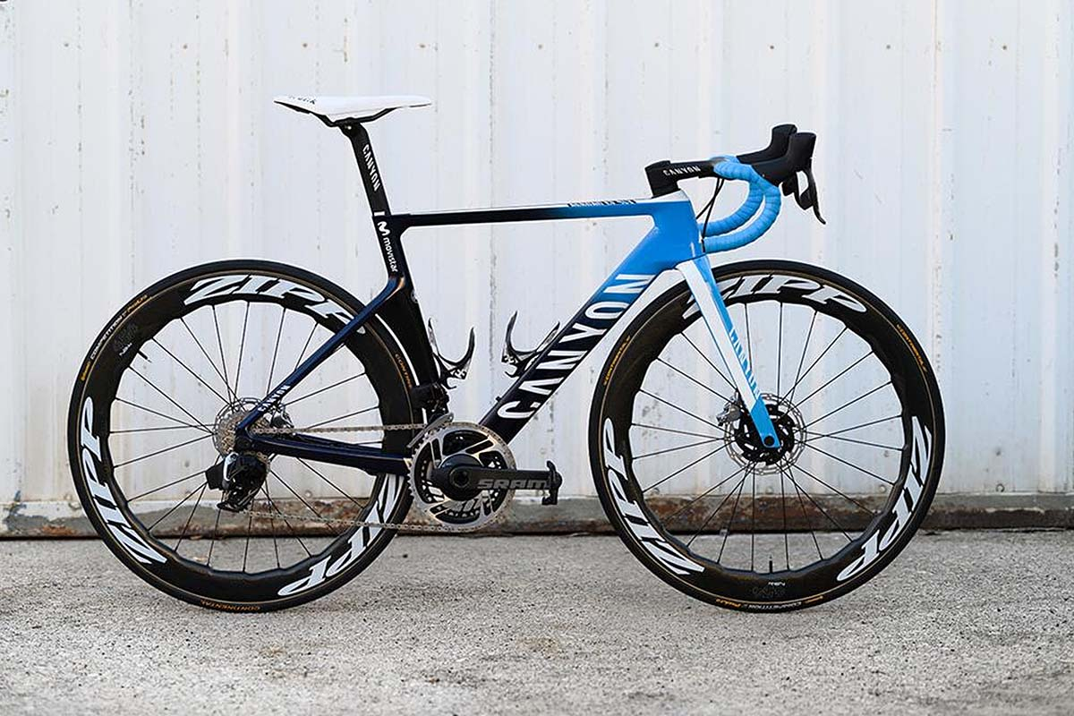 Canyon Aeroad del Movistar Team con SRAM