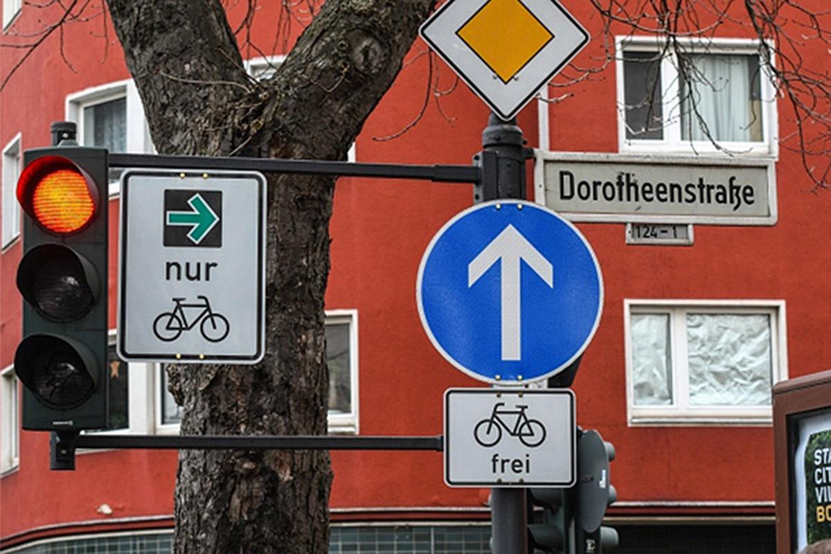 En Alemania experimentan con una señal exclusiva para ciclistas en la ciudad