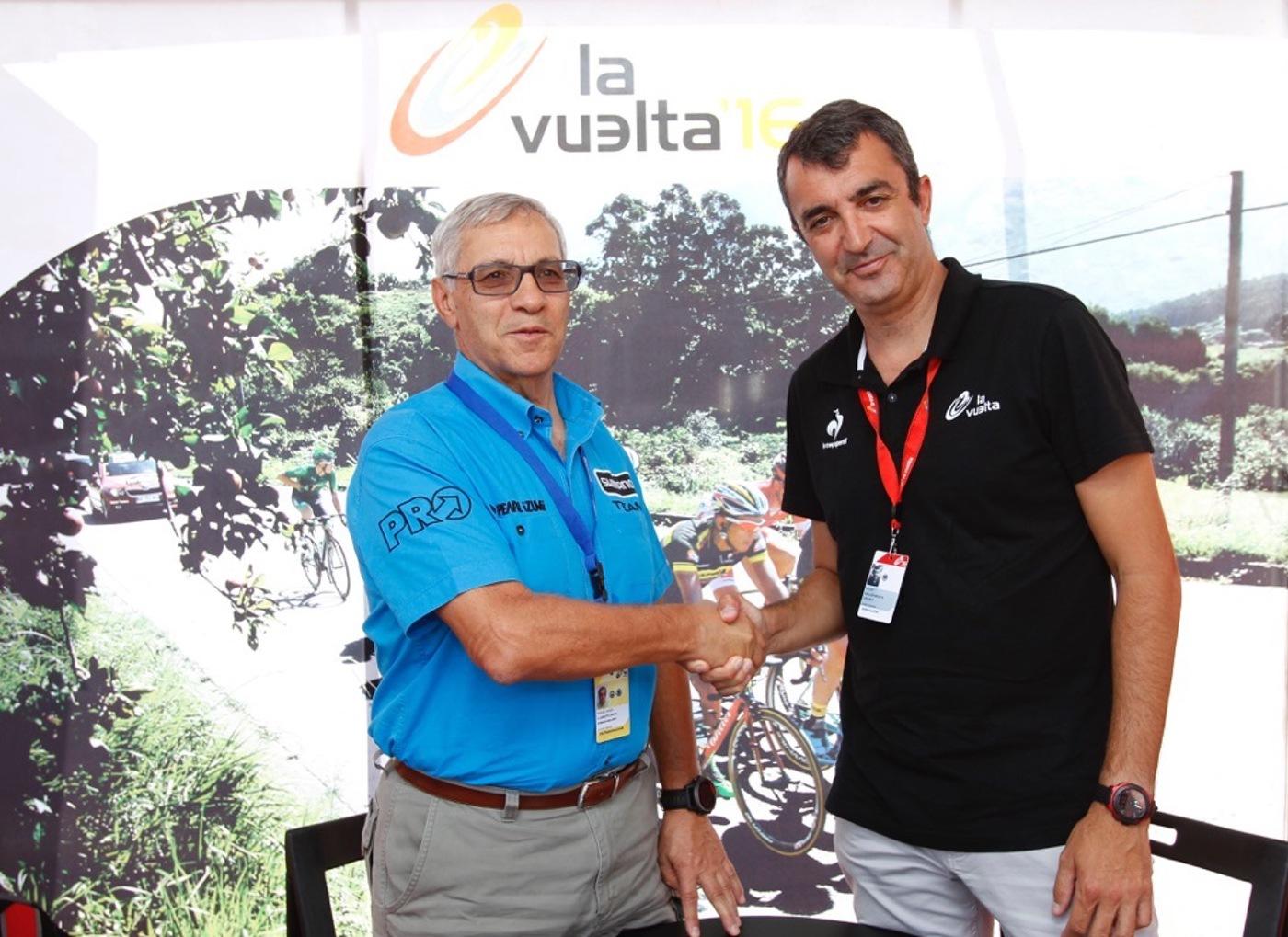 Miguel Llorente, Dtor General de Macario Llorente, y Javier Guillén, Dtor General de La Vuelta