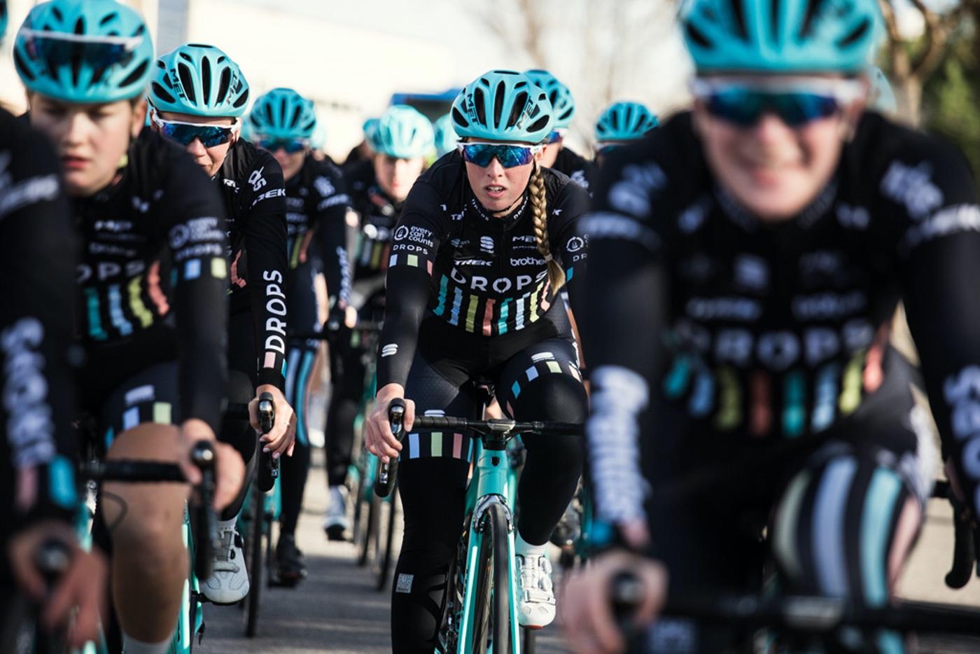 Met con el equipo ciclista femenino Drops Cycling