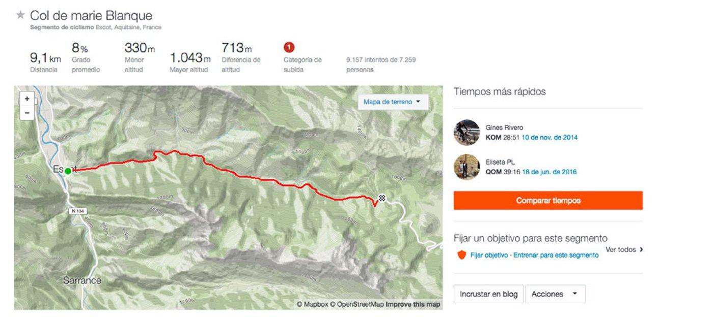 Etapa 14 -Sábado 03 de Septiembre. Col de Marie Blanque.