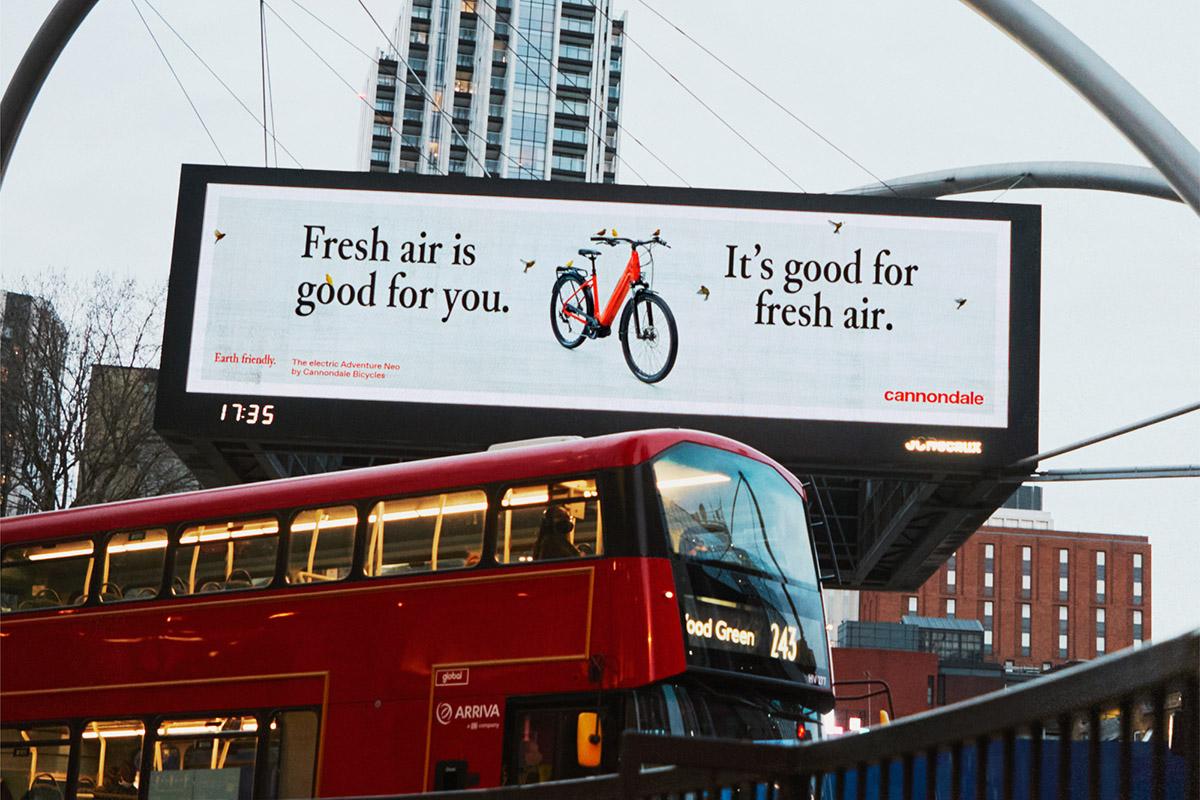 Campaña de la Cannondale Aventure Neo en Londres