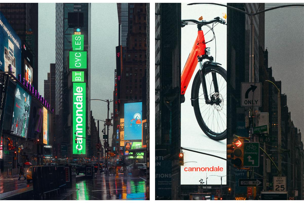Campaña de la Cannondale Aventure Neo en Times Square, Nueva York