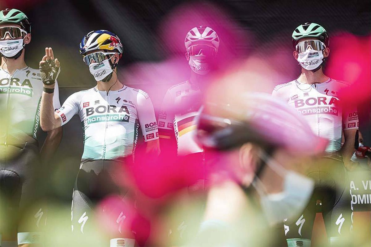 Integrantes del equipo Bora-Hansgrohe en la Vuelta a España 2021
