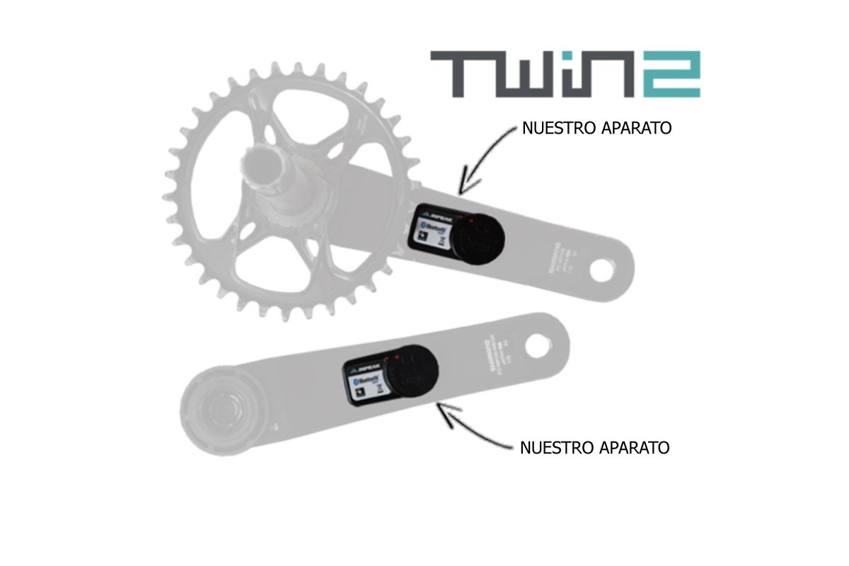 Medidor de potencia Inpeak TWIN2 para las dos bielas