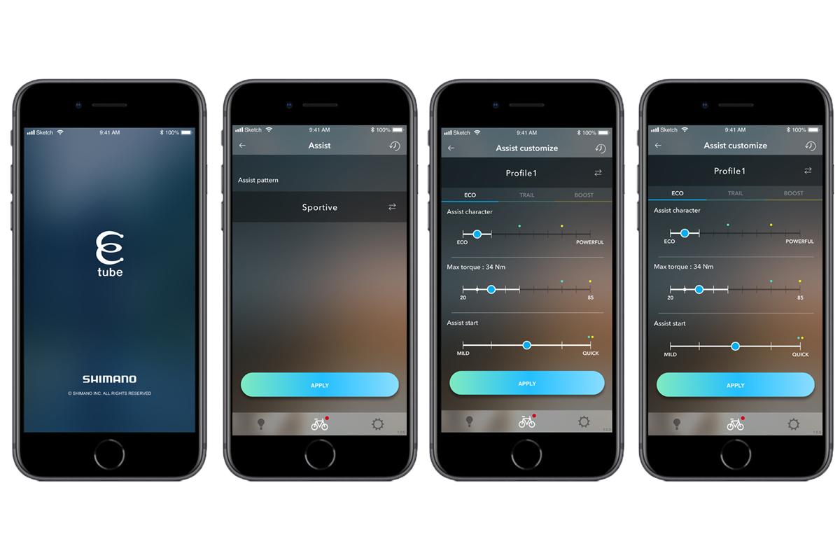 Actualizadas las app Shimano E-Tube Ride y Project para una mayor capacidad de personalización