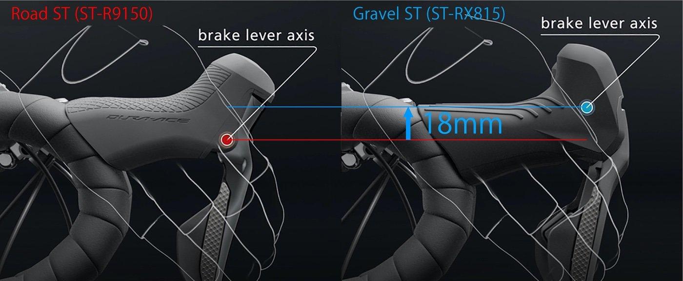 Diagrama técnico manetas de freno Shimano GRX