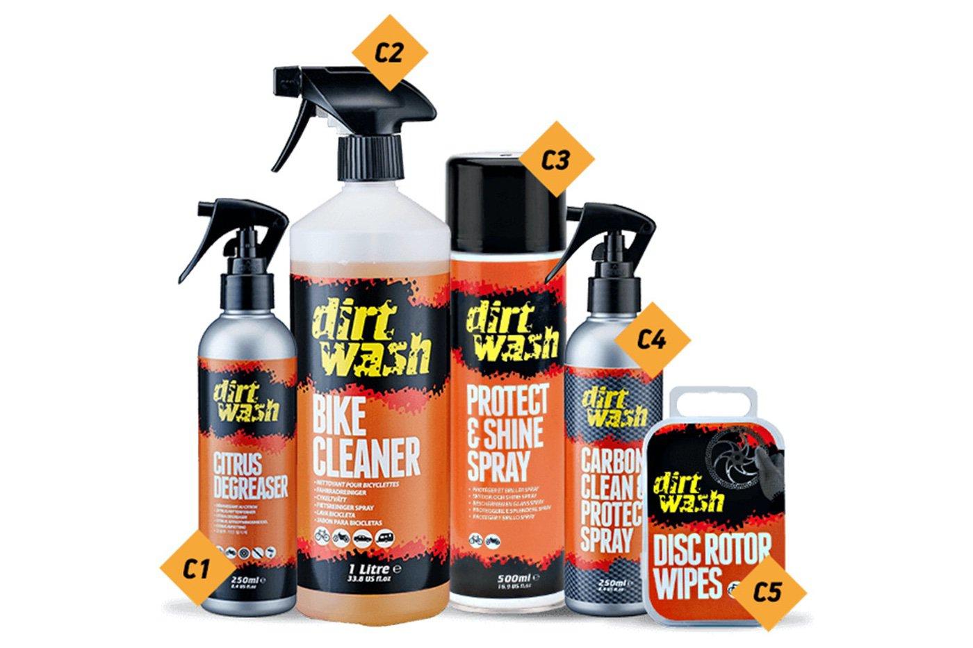 Productos Weldtite para cuidado de la bici