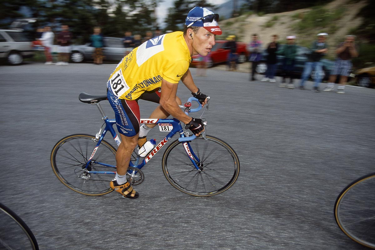 Lance Armstrong con la Trek OCLV