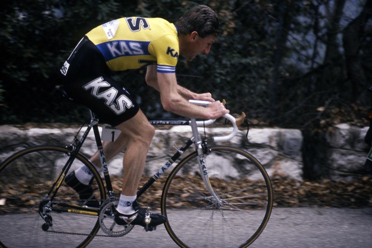 Sean Kelly con una Vitus 979 de aluminio