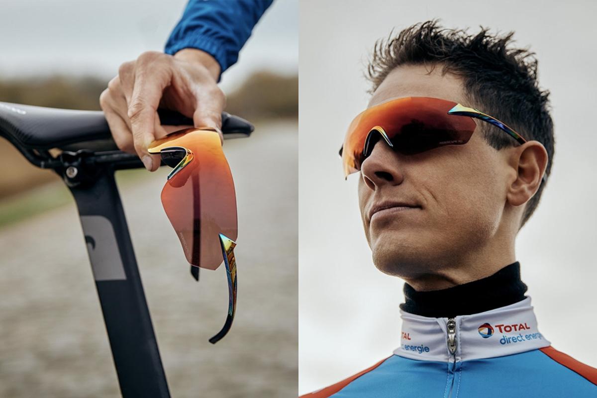 Detalle de las gafas Shimano S-PHYRE R con lente Ridescape