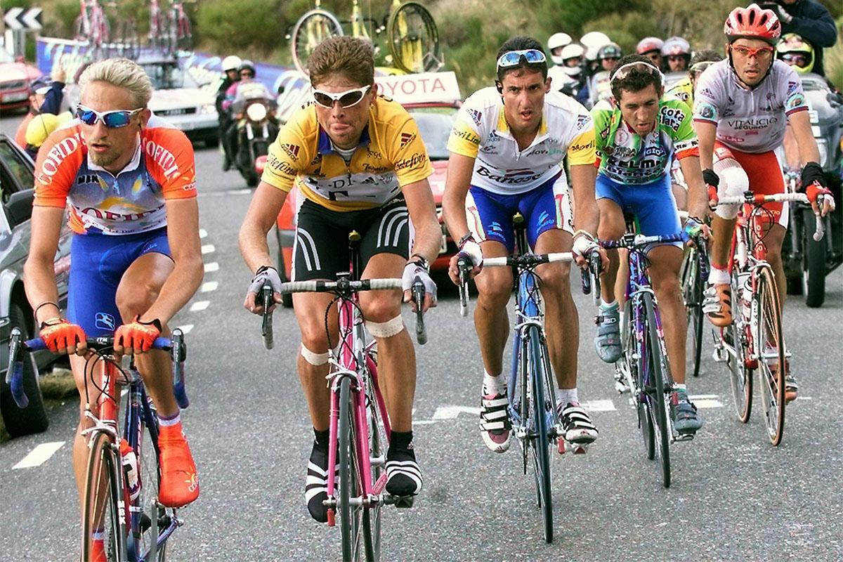 Franck Vandenbrouckem Jan Ulrich, José María Jiménez, Heras... en La Vuelta 1999