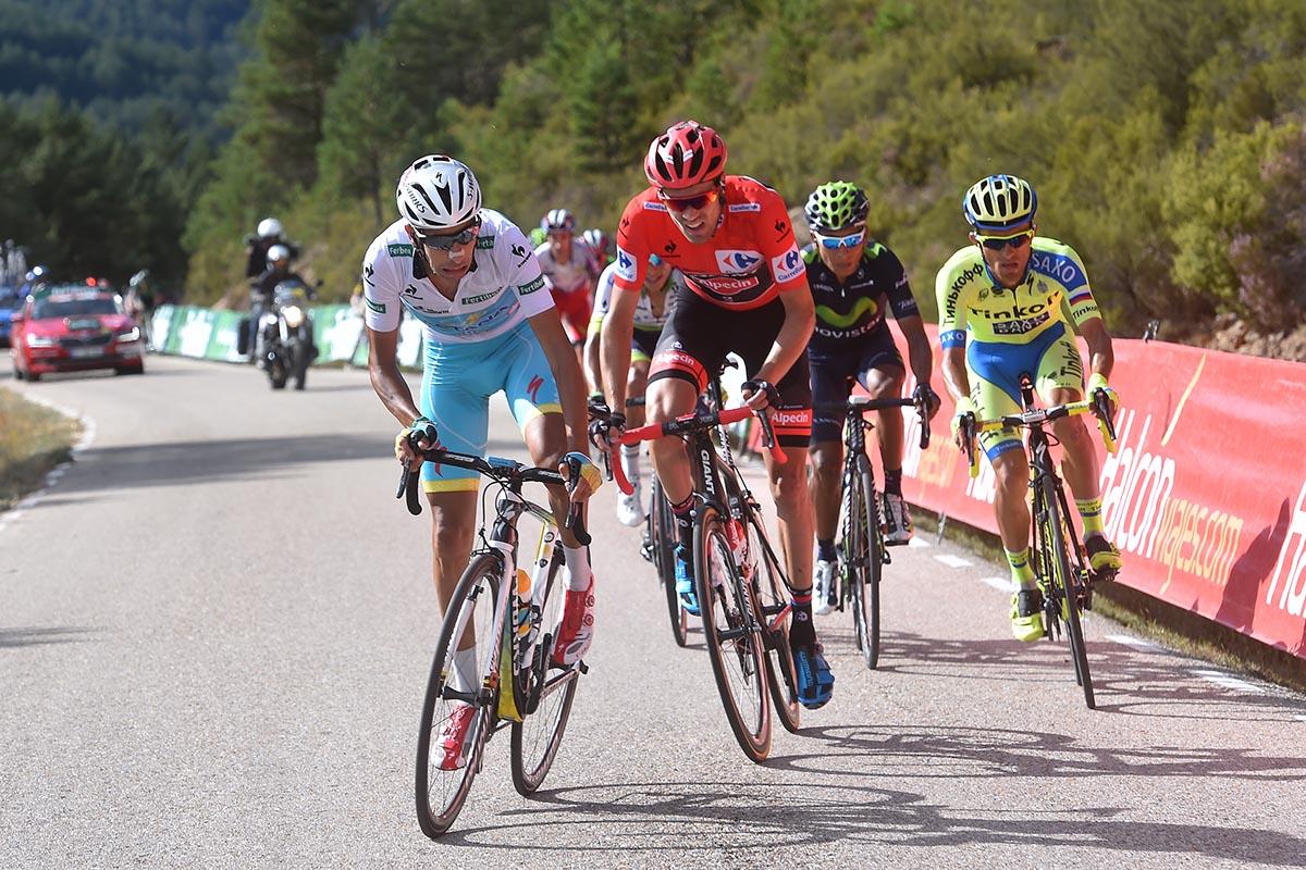 ARU y DUMOULIN en Morcuera, en la etapa decisiva de La Vuelta 2015