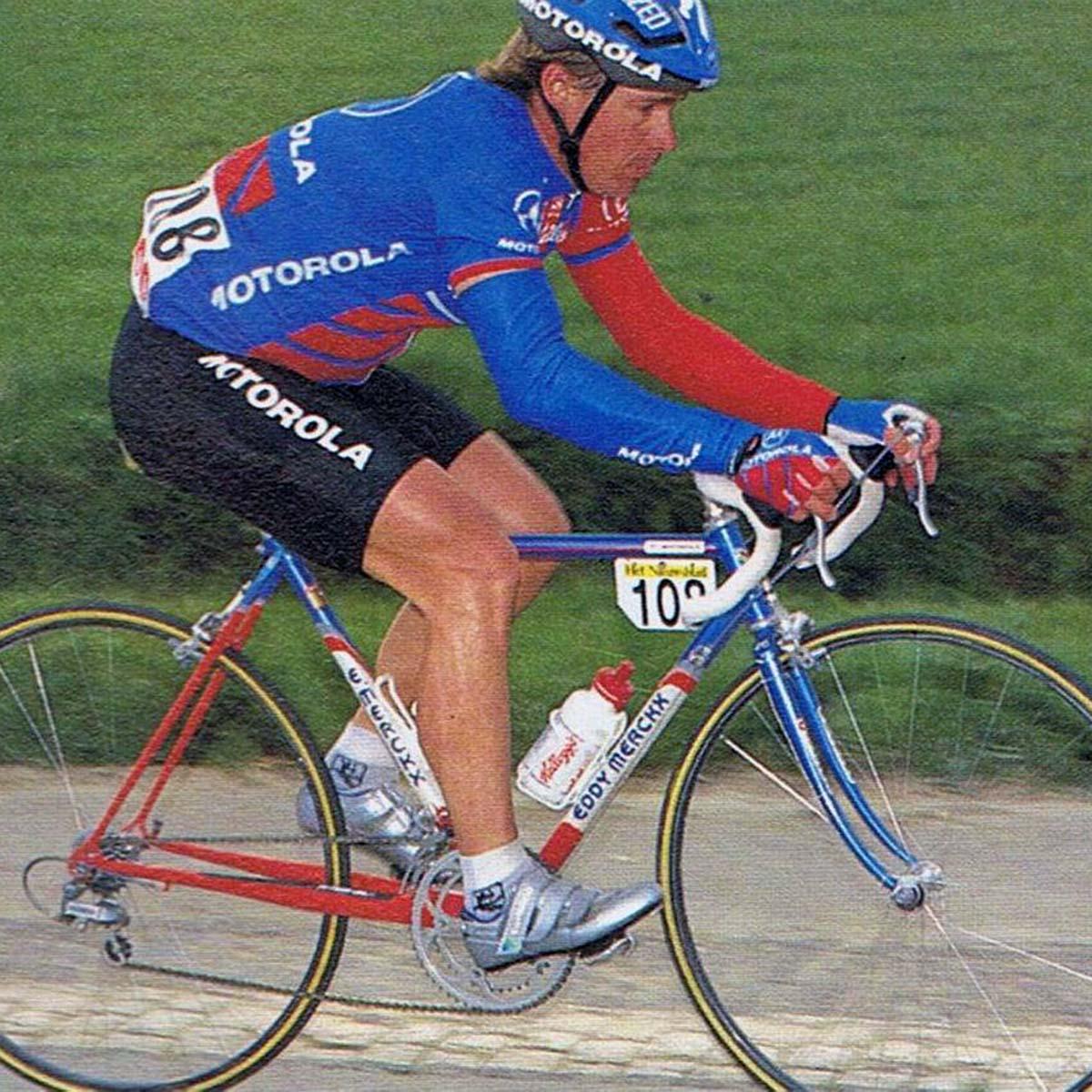 Eddy Merckx de Steve Bauer en la Paris-Roubaix de 1993
