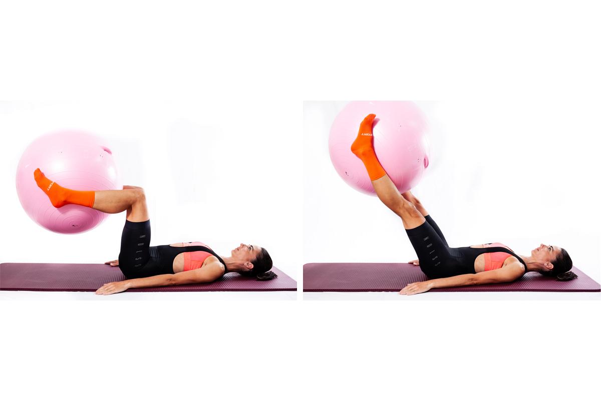Ejercicios de extensión de rodilla y abdominales