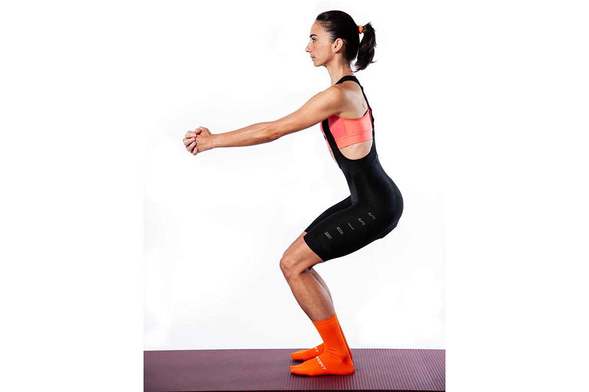 Sentadillas para fortalecer las rodillas