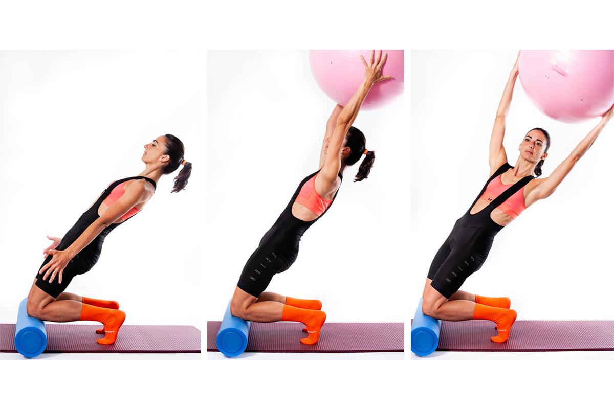 Ejercicios excéntricos con fitball para fortalecer las rodillas