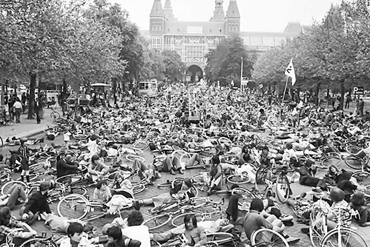 ManifestacIón ciclista en Holanda