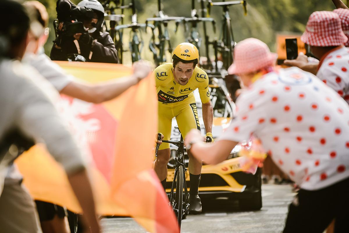 Roglič en la Contrarreloj en la que perdió el Tour de 2020