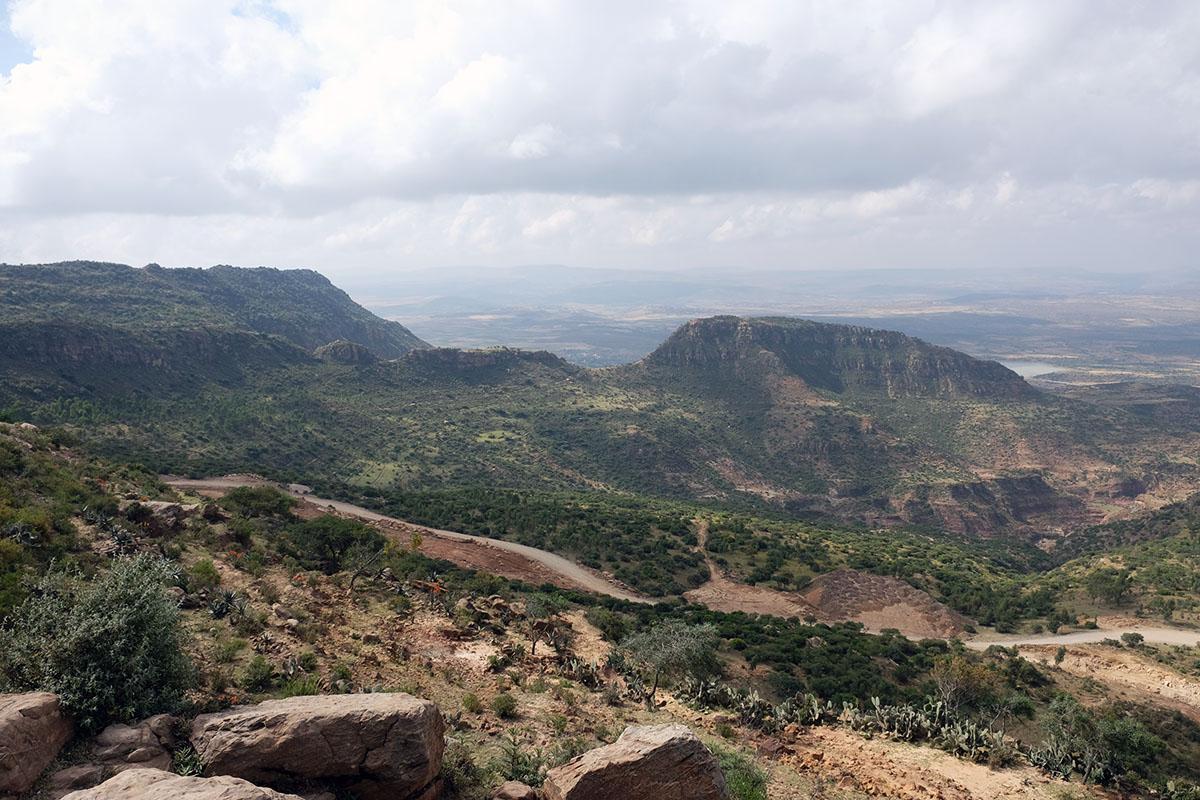 Vistas desde el altiplano en los alrededores de Wukro