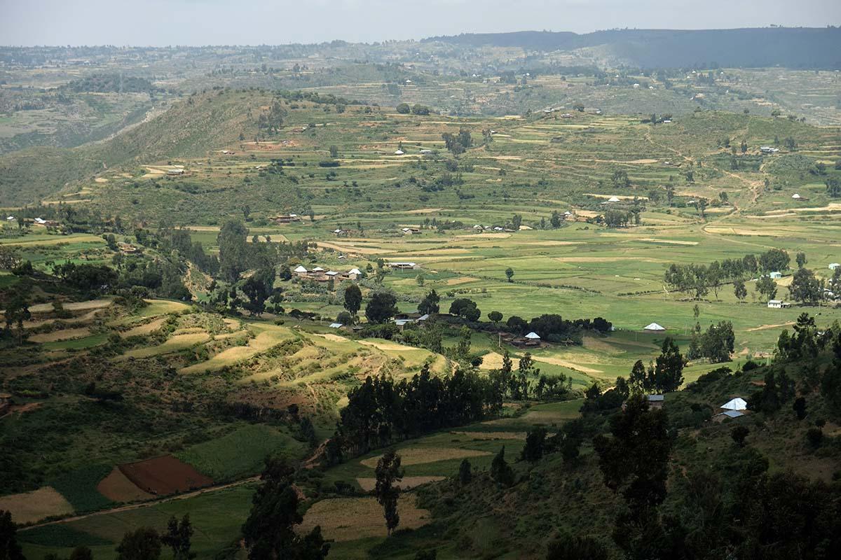 Zona rural entre Wukro y Eritrea