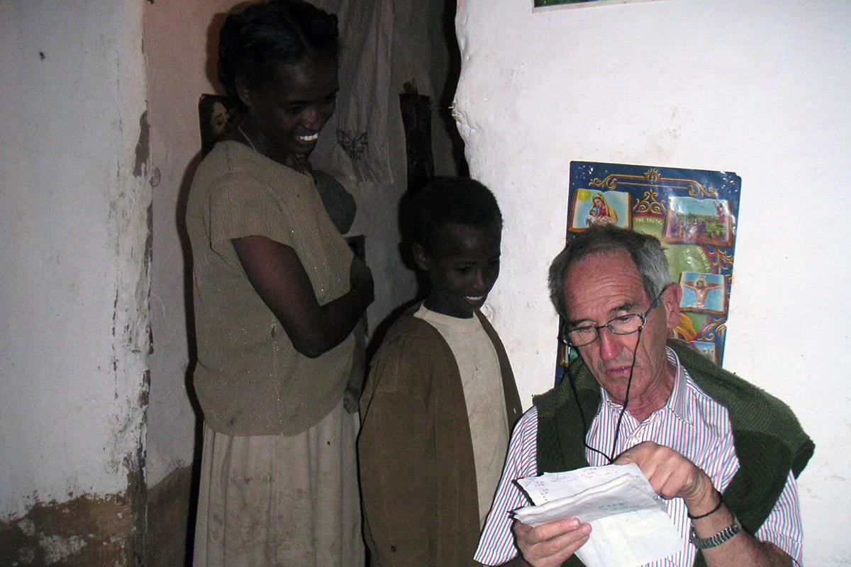 Ángel Olarán (Abba Melaku para los etíopes) en la Misión Saint Mary