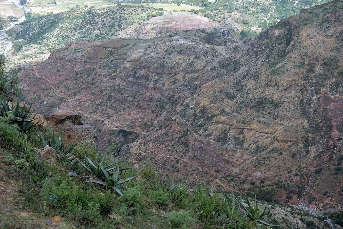 Sendero que baja desde el altiplano