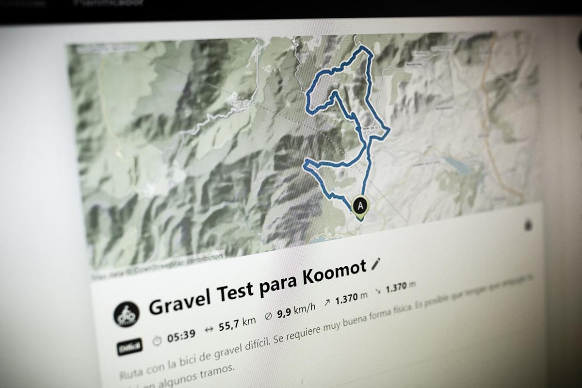Análisis de la plataforma y planificador de rutas Komoot