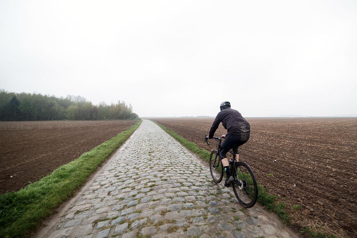 Tramo de pavés de la Paris-Roubaix