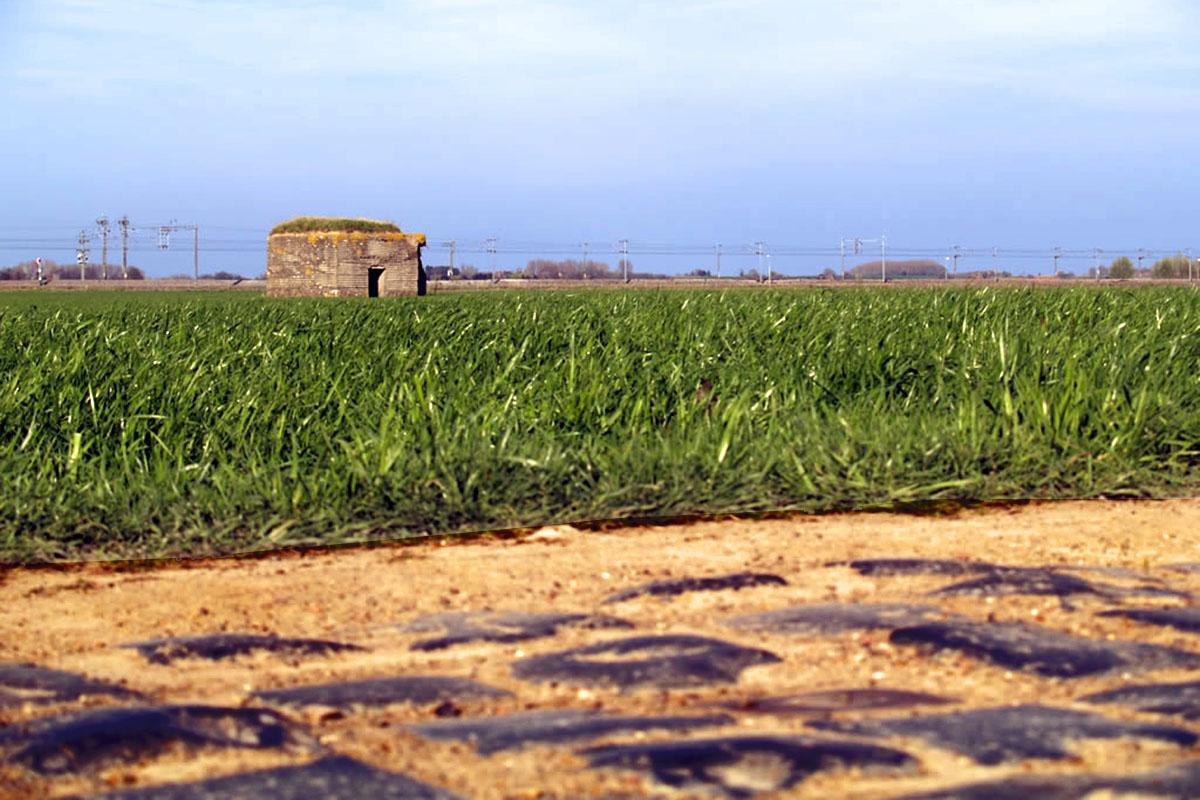 Búnker de la IGM que se puede ver a lo largo del recorrido de la Paris-Roubaix