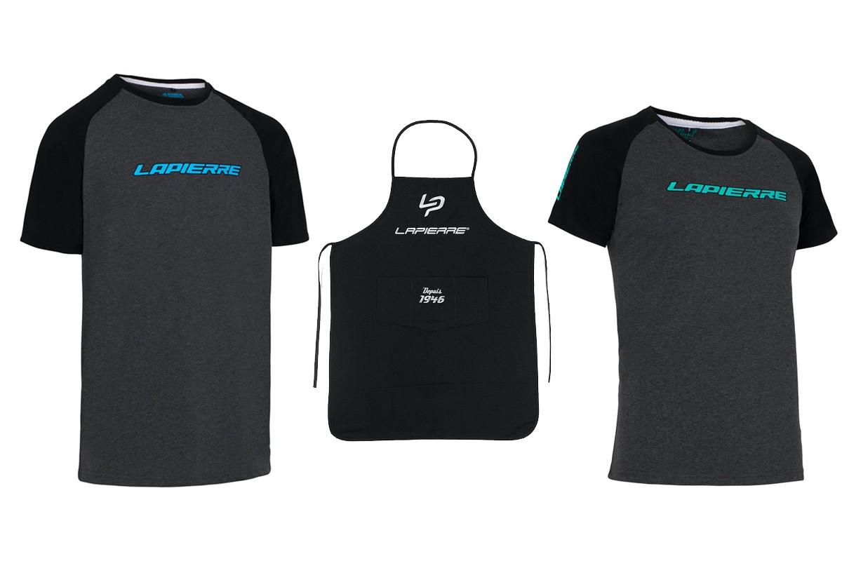 Delantal de taller y camiseta Lapierre