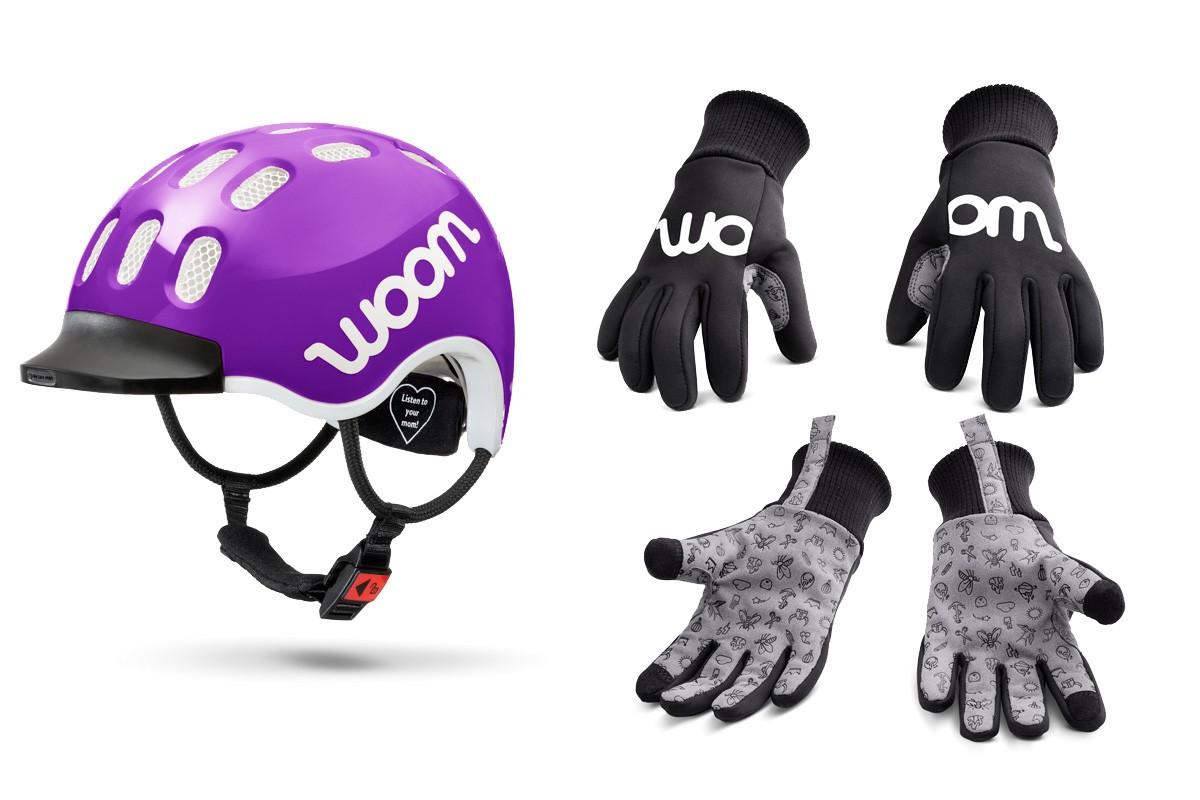 Casco y guantes de invierno Woom