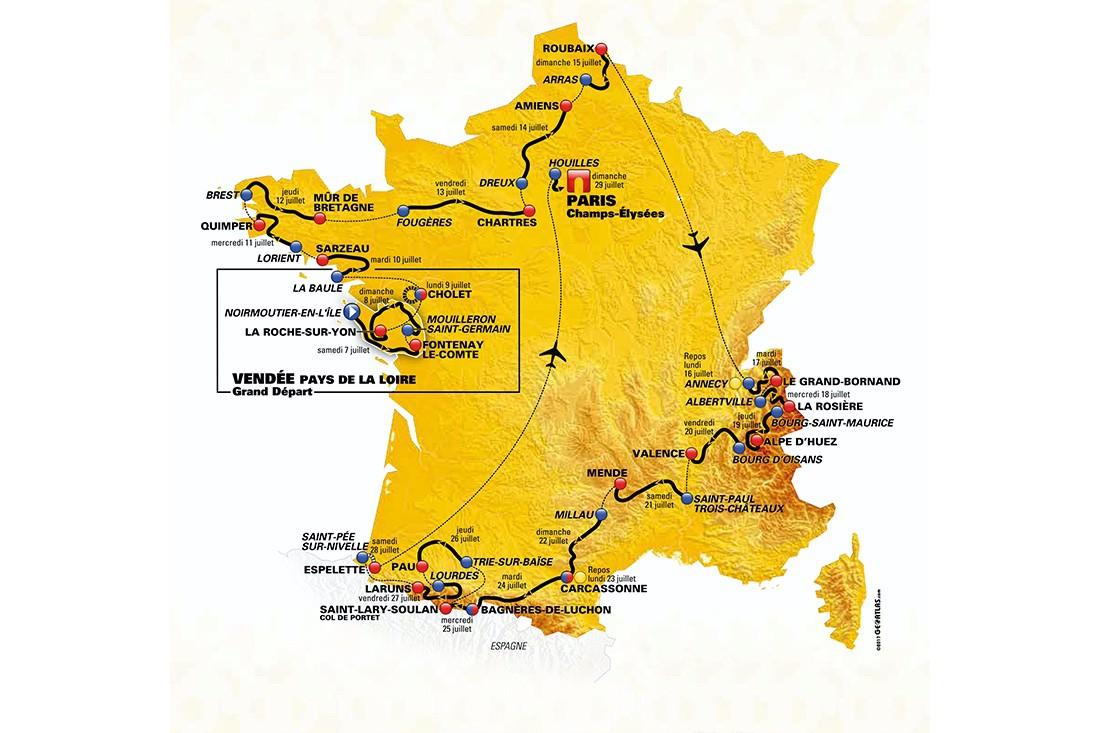 22 km de pavés, una etapa de 65 km… las sorpresas del recorrido del Tour 2018