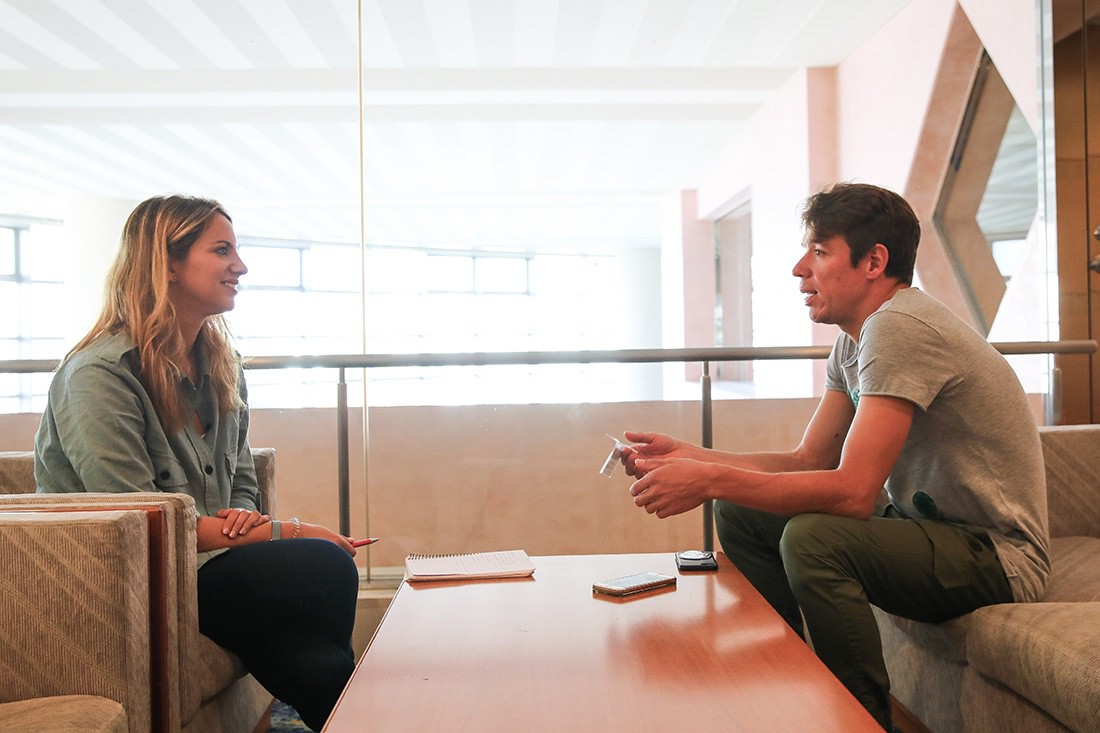 Entrevista a Rigoberto Urán, corredor del Education First-Drapac Cannondale