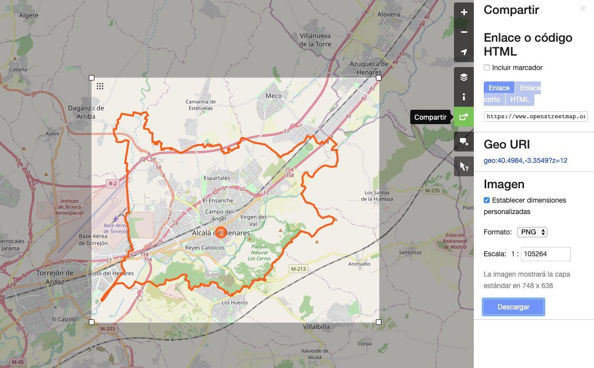 Descargar mapa de Open Street Map